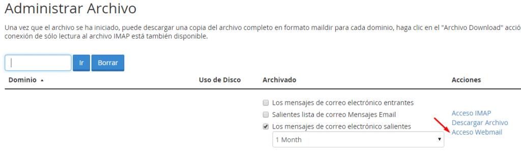 Webmail Archivo